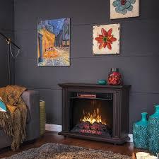 greentouch 33 in w x 26 in h x 10 5 in d brown poplar rolling fireplace mantel