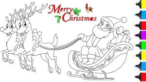 Santa And His Reindeer Coloring Pages Tingamedaycom