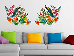 Small Picture Buy Decals Design Peacock Birds on Branch Leaves Wall Sticker