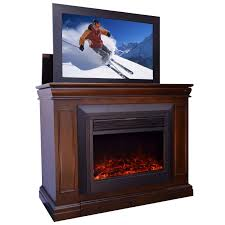 conestoga electric fireplace tv lift cabinet loading zoom