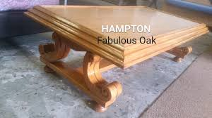 hampton hand carved oak coffee table