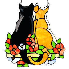 stained glass cat patterns cats daffodils sun catcher baker designs new free flower pattern and dog