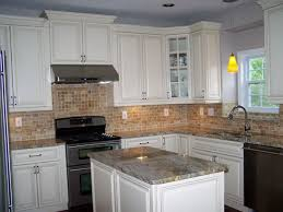 simple white kitchen cabinets with granite countertops