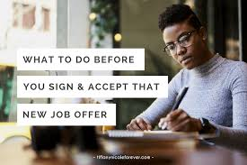 What To Do Before You Accept That New Job Tiffany Nicole Forever