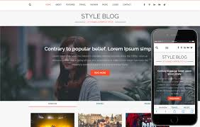 Blog Website Templates Custom Style Blog A Blogging Category Flat Bootstrap Responsive Web Template