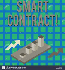 Text Sign Showing Smart Contract Business Photo Text The
