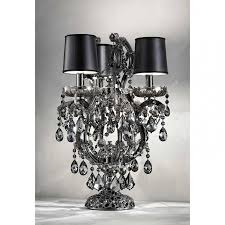 <b>Лампа настольная</b> Masiero Luxury Black Aqaba/TL3 Swarowski ...