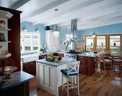 blue kitchen wall colors. Beautiful Wall Blue Kitchen Walls For Wall Colors Plain Paint With Cherry Cabinets Plans 7 To L
