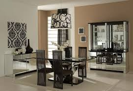 Dining Room Wall Decor With Mirror Black Countertop Nice - Mirrors for dining room walls