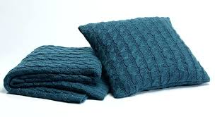 teal throw rug season edition chunky knit australia