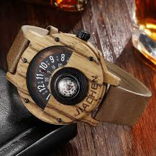 creative men wood watch mens wooden wrist watches creative real solid natural walnut rosewood male turntable compass wrisch watches digital