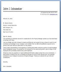 Commercial Property Manager Cover Letter Cover Letter For