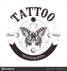 Tetování Znak školy Klasické A Retro Tetování Motýl Astrologické