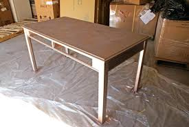 diy metal furniture. Diy Spray Paint Furniture Desk With Coat Of Primer Rose Gold . Metal