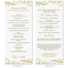 Wedding Program Template Download Instantly Edit Yourself