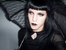 elegant hairdesign of gothic