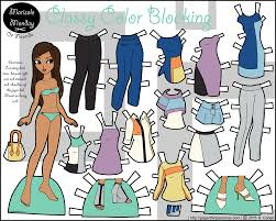 All the different clothes and styles give your kids a fun way to spend their time. Classy Color Blocking A Printable Paper Doll In Color Paper Thin Personas