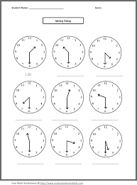 Clock Math Worksheets Grade 2 Math Worksheets Clock Telling Time ...