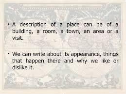 writing describing places writing describing places 1 writing 2