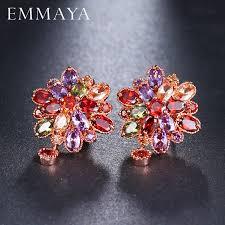 EMMAYA Luxury Ear Stud Earring AAA <b>Marquise</b> CZ Formed ...