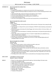 Marketing Experience Resume Brand Marketing Resume Samples Velvet Jobs