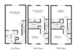 4 Bedroom Townhouse  Google Search  Multifamily  Pinterest 4 Bedroom Townhouse Floor Plans