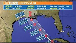 5 hours ago · tropical storm ida could be close to category 4 hurricane strength when its makes landfall late sunday or early monday on louisiana's coast, hurricane forecasters said friday morning. 3bysl5vhr0 Tjm