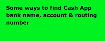 can t find cash app bank name account
