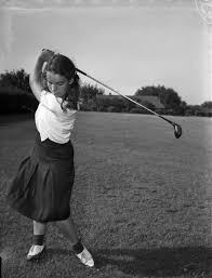 Child golfer Polly Riley | UTA Libraries Digital Gallery