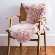 mongolian sheepskin rug pink blush mint interior design within inspirations 2