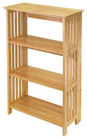mission 4 tier shelf craftsman display and wall shelves by contemporary furniture warehouse