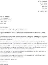 Debt Advisor Cover Letter Sarahepps Com
