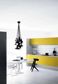 Yellow And Black Kitchen Decor Stunning White And Yellow Kitchen Decor With Beautiful Pendant