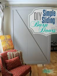diy simple sliding barn doors theturquoisehome com