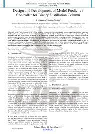Binary Distillation Column Design Pdf Design And Development Of Model Predictive Controller