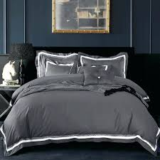 grey duvet cover king cotton luxury satin fabric solid color dark grey duvet cover set king
