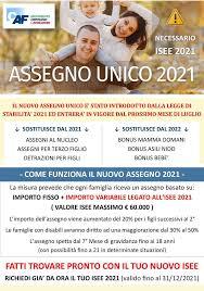 Caf Mcl - Patronato Sias Settimo Milanese - ASSEGNO UNICO 2021 Assegno unico  ✓SI? Assegno unico ❎NO? Sicuramente la reale implementazione pratica di  questo cambio importante (previsto da Luglio 2021) è legata