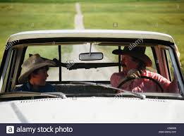 Cowboy and Son, Pickup Truck and Gun Rack, Montana Stock Photo ...