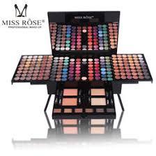 miss rose makeup kits multicolor eyeshadow palette blush matte powders glitter eye shadow for women cosmetics box 180 color case