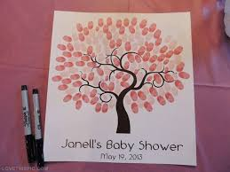 Fingerprint Baby Shower Or Christening U0027guestbooku0027 By Fingerprint Baby Shower Tree