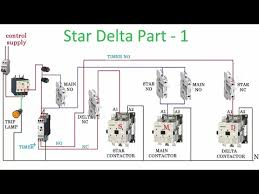 three phase star delta starter control diagram part 1 youtube Wye Delta Connection Diagram three phase star delta starter control diagram part 1