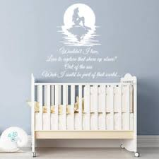 image is loading mermaid wall decal quote wouldn 039 t i love  on wall decal quotes for nursery with mermaid wall decal quote wouldn t i love vinyl stickers nursery home