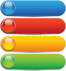 Glossy Buttons Banners Rounded Stock Vector Colourbox