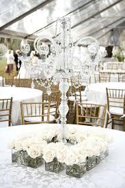mini chandelier centerpieces