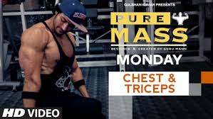 monday chest triceps workout pure m program by guru mann health and fitness you