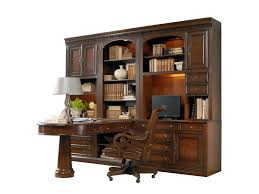 Home office wall desk Modern Hamilton Home European Renaissance Iioffice Wall Unit With Peninsula Desk Rotmans Hamilton Home European Renaissance Ii Office Wall Unit With