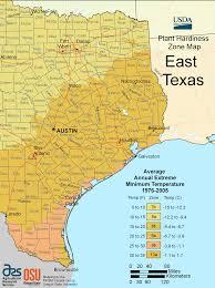 east texas plant hardiness zone map • mapsofnet