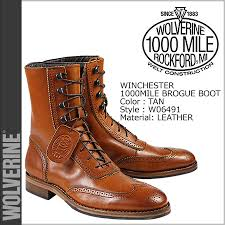 wolverine winchester 1000 mile brogue boot