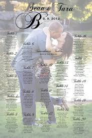seating chart for wedding reception wedding seating chart with photo table by charmingpapershop my