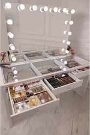 modern mirrored makeup vanity. Crisp White Finish Slaystation Make Up Vanity With Premium Storage, Three Spacious Drawers Encrusted Modern Mirrored Makeup A